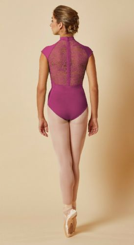 Mirella by Bloch Ladies Dance Cap Sleeved Leotard Lace Zip Back M5082 Tulip Pink